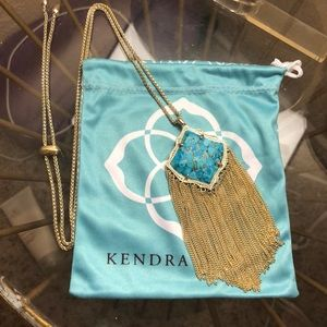 Kendra Scott Kingston necklace bronze veined turq